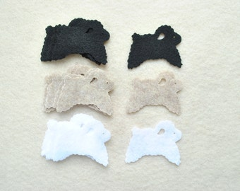 21 Piece Die Cut Felt Sheep
