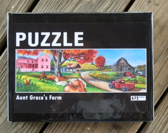 672 piece PUZZLE from the acrylic painting Aunt Grace's Place