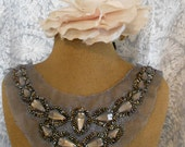 Taupe Stone Beaded Appliques