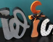 Large WICKED letter set in vintage color scheme--READY to SHIP