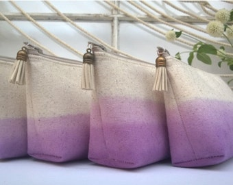 Set of 9 - Lavender Clutch Purses, Bridesmaid Gifts, Ombre Wedding Clutches, Bohemian