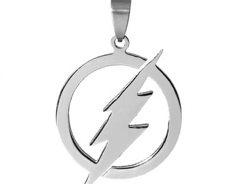 5 Lightning Bolts - Stainless Steel -  45x28mm -  Ships IMMEDIATELY from California - SC1154a