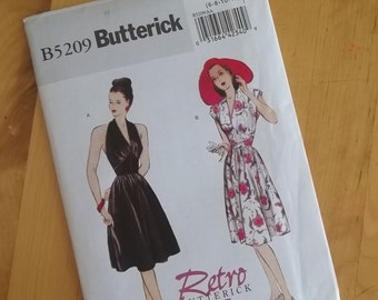 Uncut Butterick 5209 Sewing Pattern - Retro Butterick '47 - Size 6 - 12