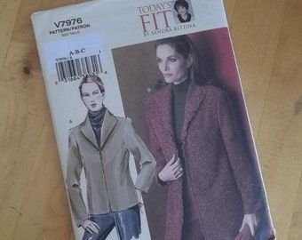 Vogue 7976 Sewing Pattern - Misses Jacket - Size A - C