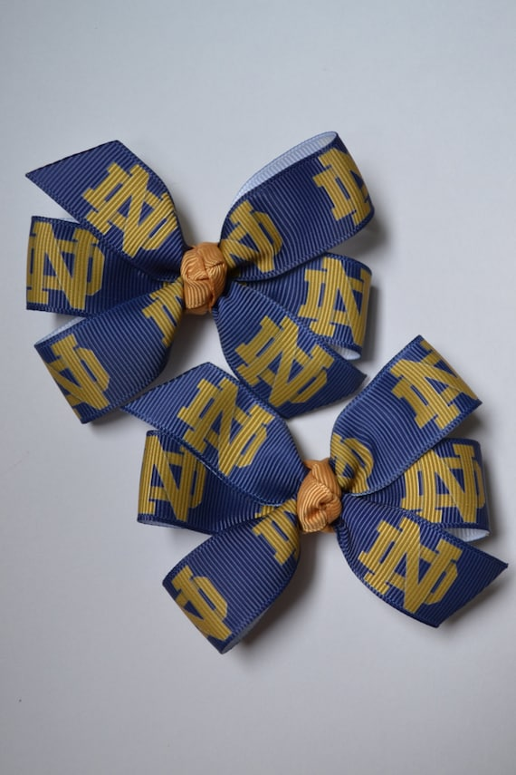 University of Notre Dame Fighting Irish Blue and Gold Hair