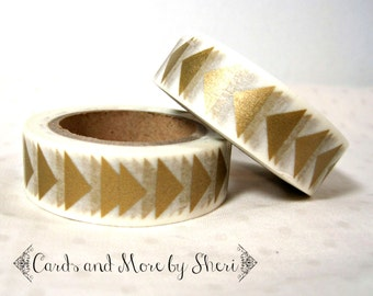 Gold Arrows Washi Tape
