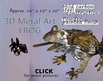 Frog Art - Metal Art Frog by Brown-Donkey Designs