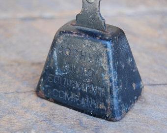 Vintage advertising BELL Goshen Auto Equipment Co black cast metal