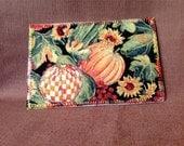 Autumn Fabric Postcard