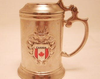 Miniature Ges Gesch Beer Stein with Canada Seal - Pewter? FREE SHIPPING