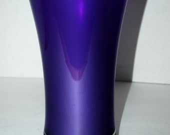 sale Purple cased glass vase #purpleglass deep rich purple glass vintage glass