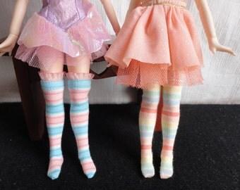 Over the Knee Fashion Socks For Azone Body Blythe Dolls