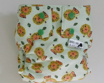 I'm Not Lion Water Resistant PUL Lined Cloth Diaper Cover Available in Small, Medium, and Large