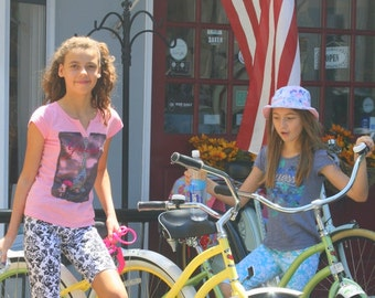 Girls bike shorts you choose the fabric