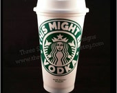 Starbucks Reusable Coffee Tumbler with Lid Personalized : This Might Be _____
