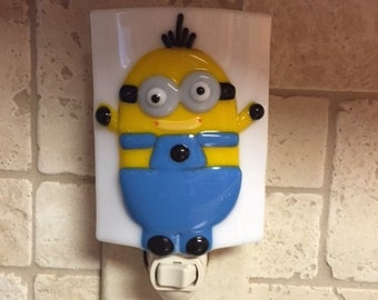 Nightlight Fused Glass Minion.