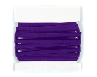 5/8th inch Silicone Backed Fold Over Elastic - 5 0r 10 yards - Purple