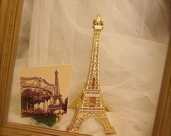 Vintage Gold Eiffel Tower, Paris decoration, Eiffel tower
