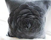 16x16 Felt Floral Pillow Cover (2)