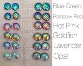 Mermaid Scale Earrings / dragon earrings / the little mermaid / mermaid earrings