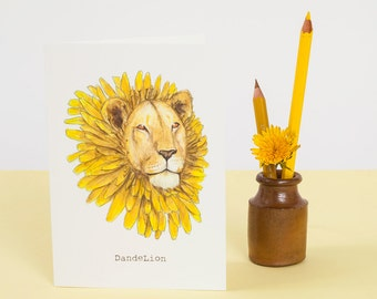 Dandelion Greetings Card