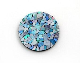 1 Stone Opal Mosaic 30mm Round,  Genuine Opal Mosaic
