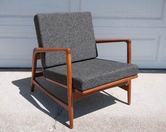 Mid Century Ib Kofod-Larsen Recliner Lounge Chair