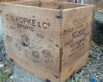 Vintage Wooden Brandy Box