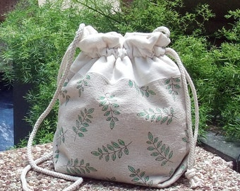 3 in 1 handbag / shoulder bag / crossbody bag ~ Garden leaves (A4)