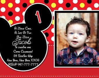 Mickey Birthday Invitation PRINTABLE