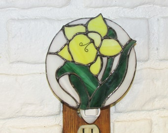Stained Glass Daffodil Nightlight