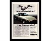 1978 MAZDA RX-7 Car Ad, Vintage Advertisement Wall Art Decor Print