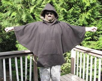 Mens Poncho, fleece poncho, hooded poncho, poncho for men,  Velour Fleece, Heavy Weight poncho, poncho mens, hippie poncho, drug rug,ponchos