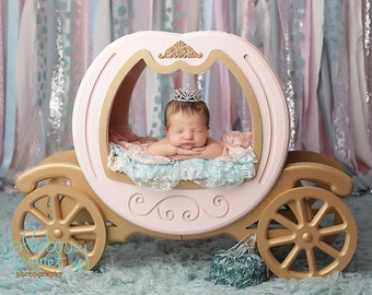 Princess Carriage Prop - DOUBLE SIDED, Carriage Prop, Cinderella Prop, Newborn Photo Prop, Newborn Photography Prop