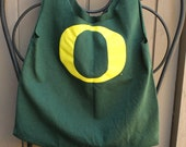 Small Oregon Ducks Upcycled TShirt Bag / Purse / Tote