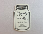 For Cara: Mason Jar Custom Tags - Wedding Favor Tags - Gift Tag - Gift Tag With Saying -  Shower Favor Tags - Happily Ever After Tags