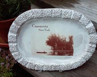 Cazenovia Lake NY Stoneware Platter