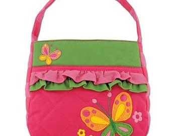 Personalized Stephen Joseph Quilted Ruffle Butterfly Purse with FREE Embroidery