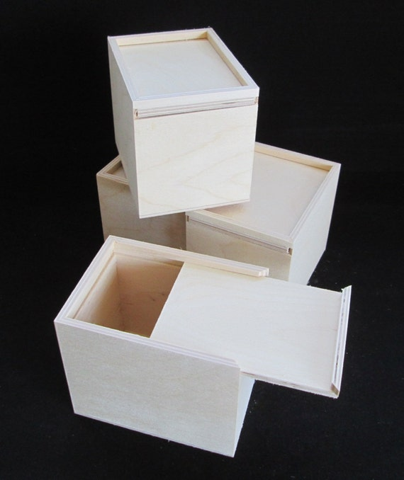 Unfinished Wood Boxes-Craft Boxes-set of 4-Advertising Agency Promo