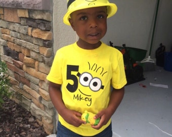 Minion Birthday shirt with number