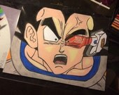 OVER 9000 - DBZ Vegeta Fan Art Includes Frame