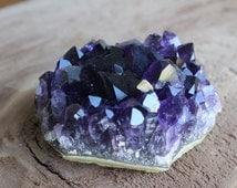 Uruguay Amethyst Grade A Very Dark Cluster Crystal 6.65 Oz 16015