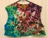 Colorful tie dye crop top