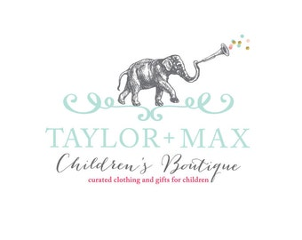 Boutique Logo Design-Childrens Boutique-Custom Logo Design with Business Card, Hang Tag, Social Media