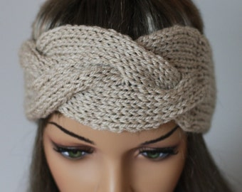Hand knitted ladies headband. A lovely woolly hairband available in many colours.