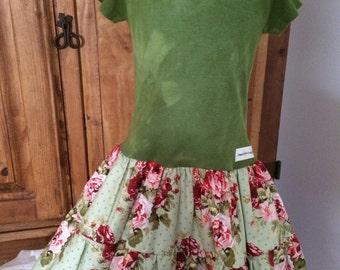 Twirly Rose Shirt Dress