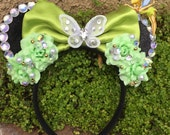 Pre-Order Tinkerbell Peter Pan Minnie Mouse Ears Flower Crown Headband Fairy Pixie Dust