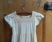 Lolita dress summer dress small dresses earthy smock dress boho clothes small vintage clothing UK empire line bobo  Dolly Topsy Etsy UK