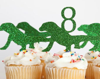 Reptile Party Cupcake Toppers, set of 18 Komodo Dragon
