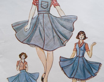 Swinging square dance dress pattern Authentic Patterns inc. 281